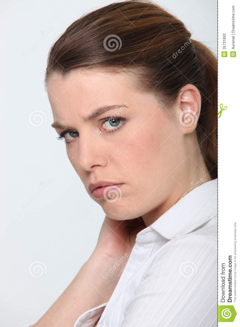 Woman feeling upset stock image. Image of background ...