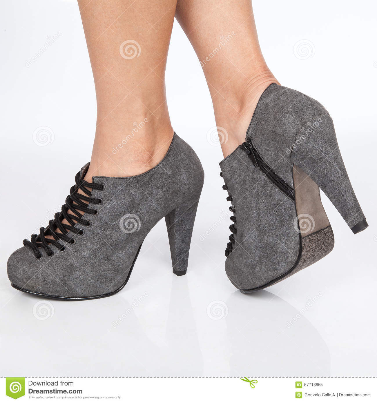 Gray Heels For Women