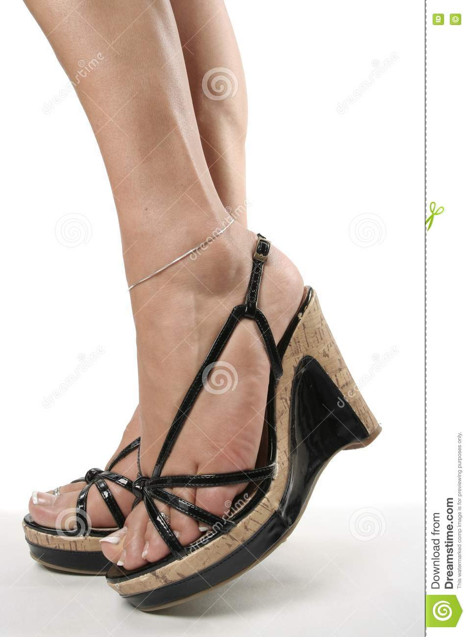 and legs with black high heel shoes stock image