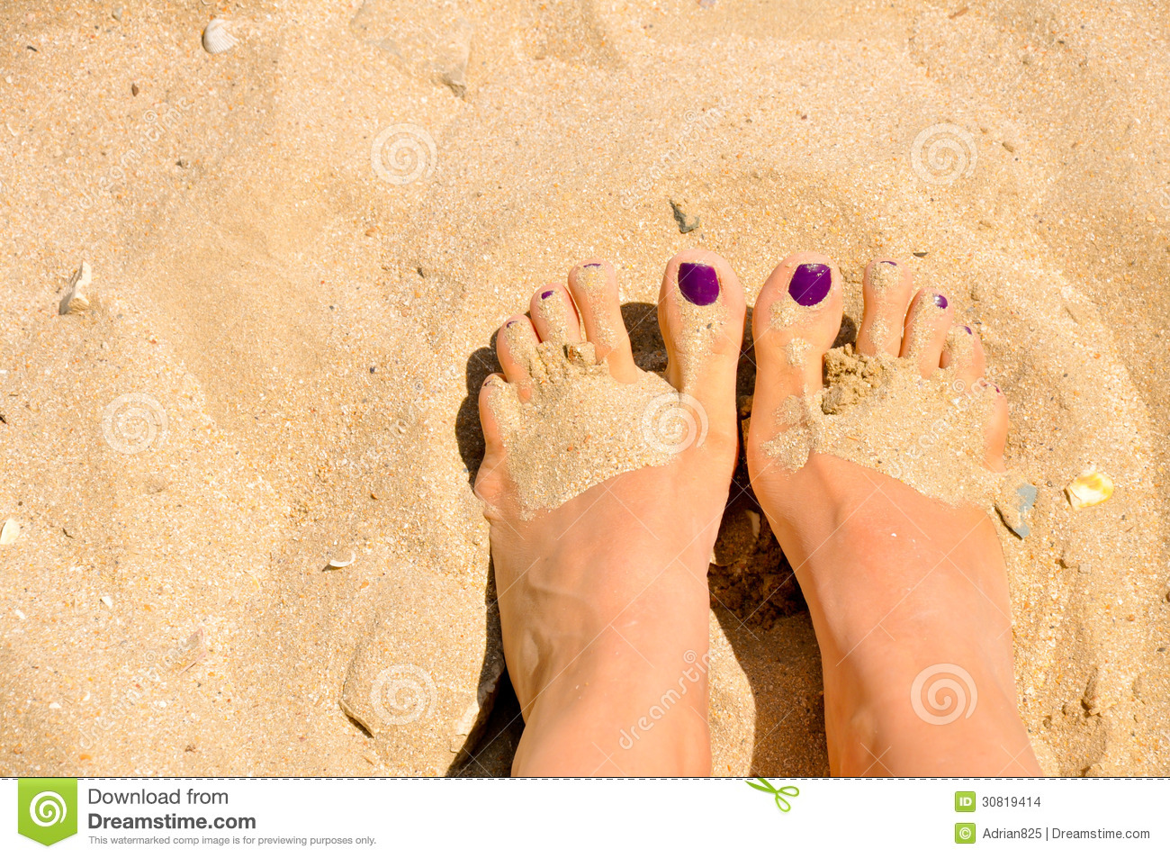 Woman Feet In Sand Stock Images - Image: 30819414