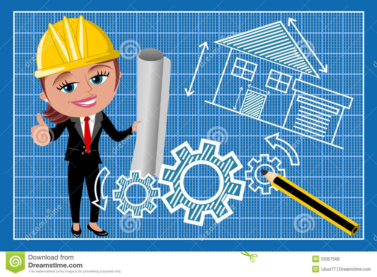 Architect Cartoons, Illustrations & Vector Stock Images
