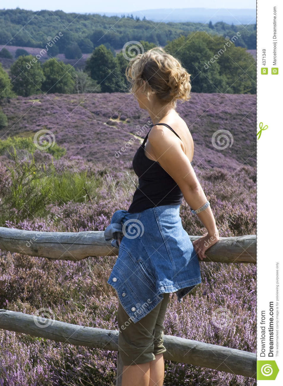 Woman At Fence