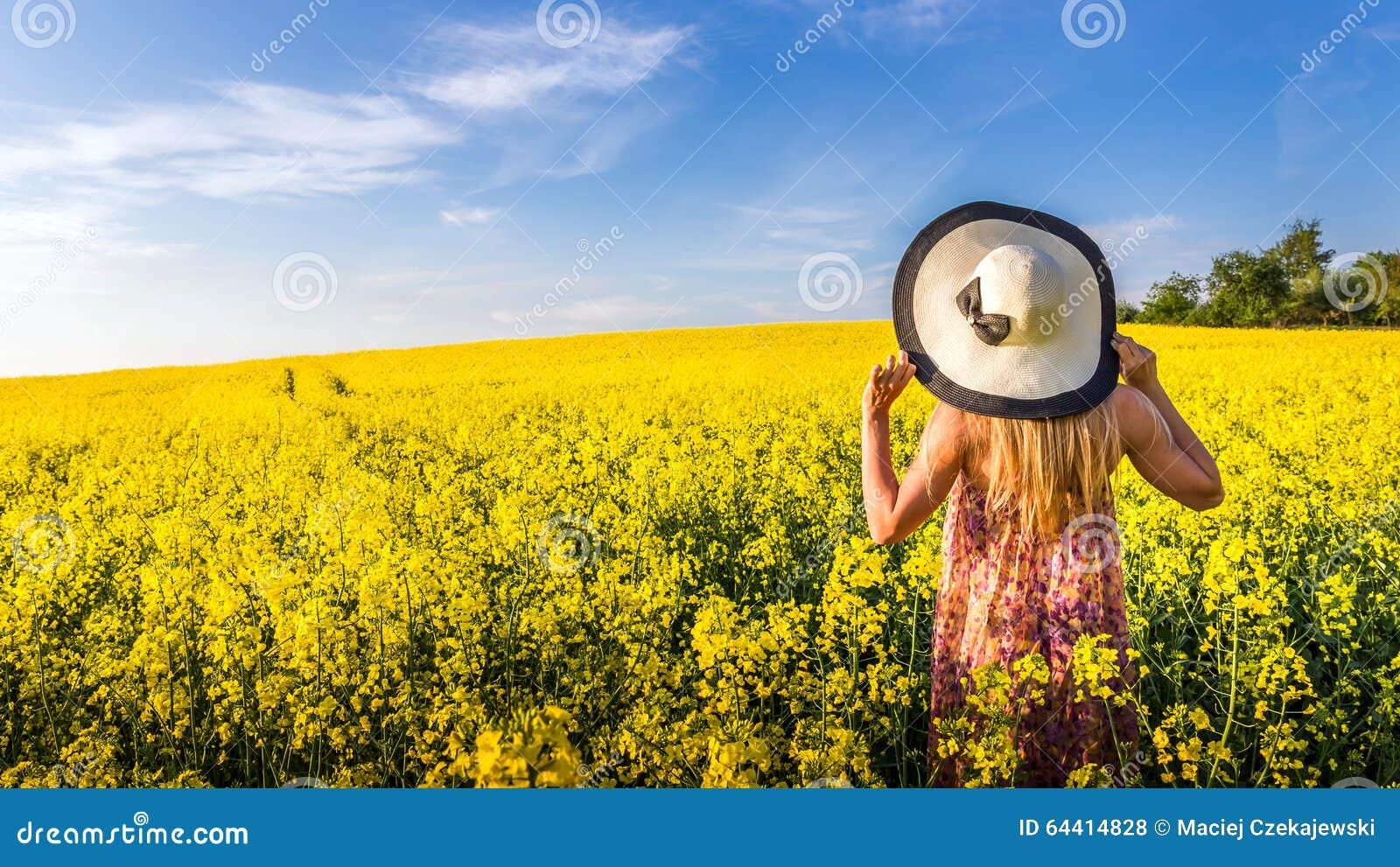 beautiful yellow field landscape - photo #17