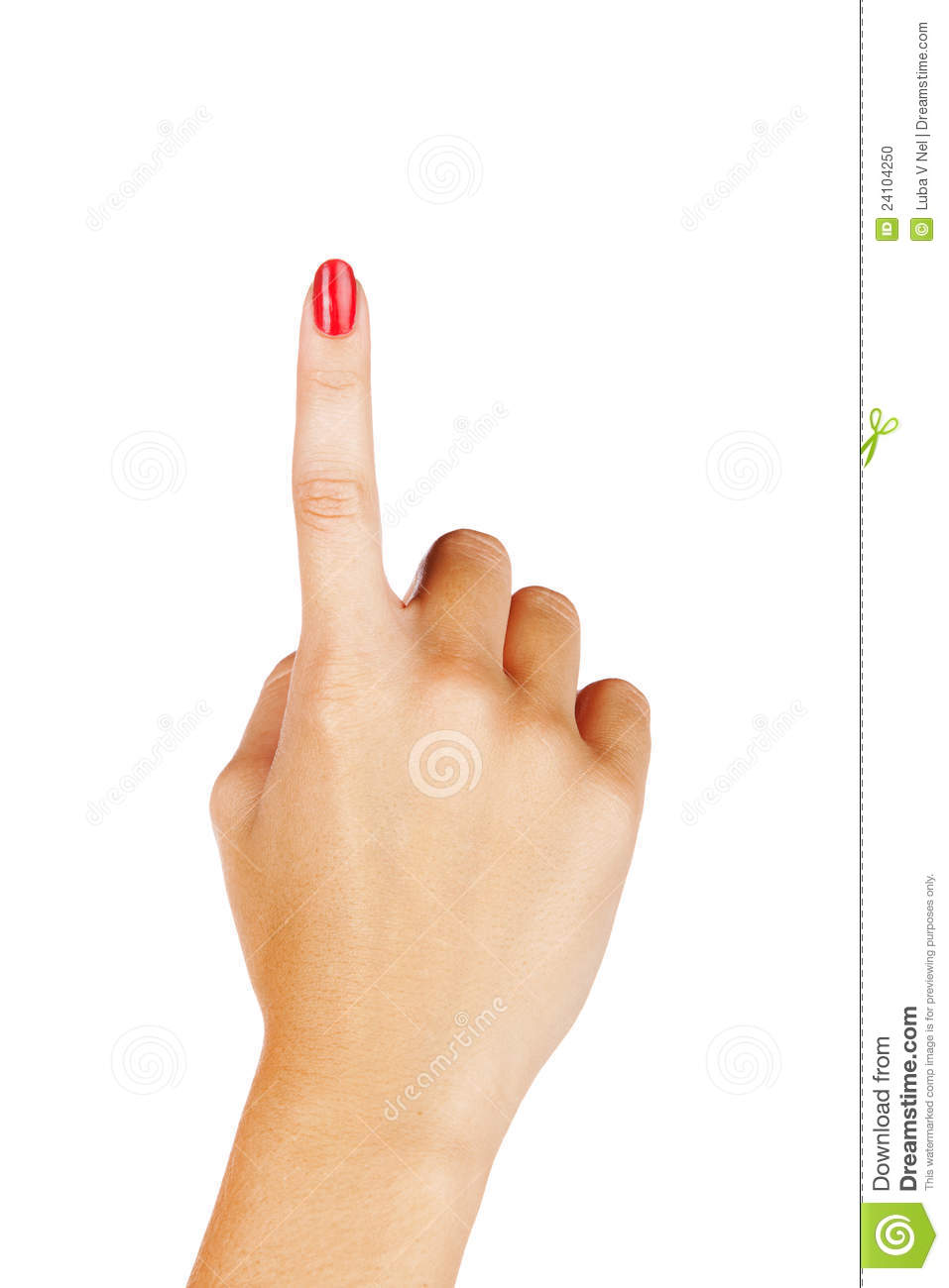 woman finger pointing stock photo image of female lacquered 24104250
