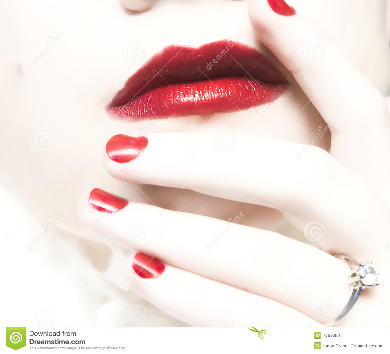 Woman Finger With Wedding Ring Stock Photos