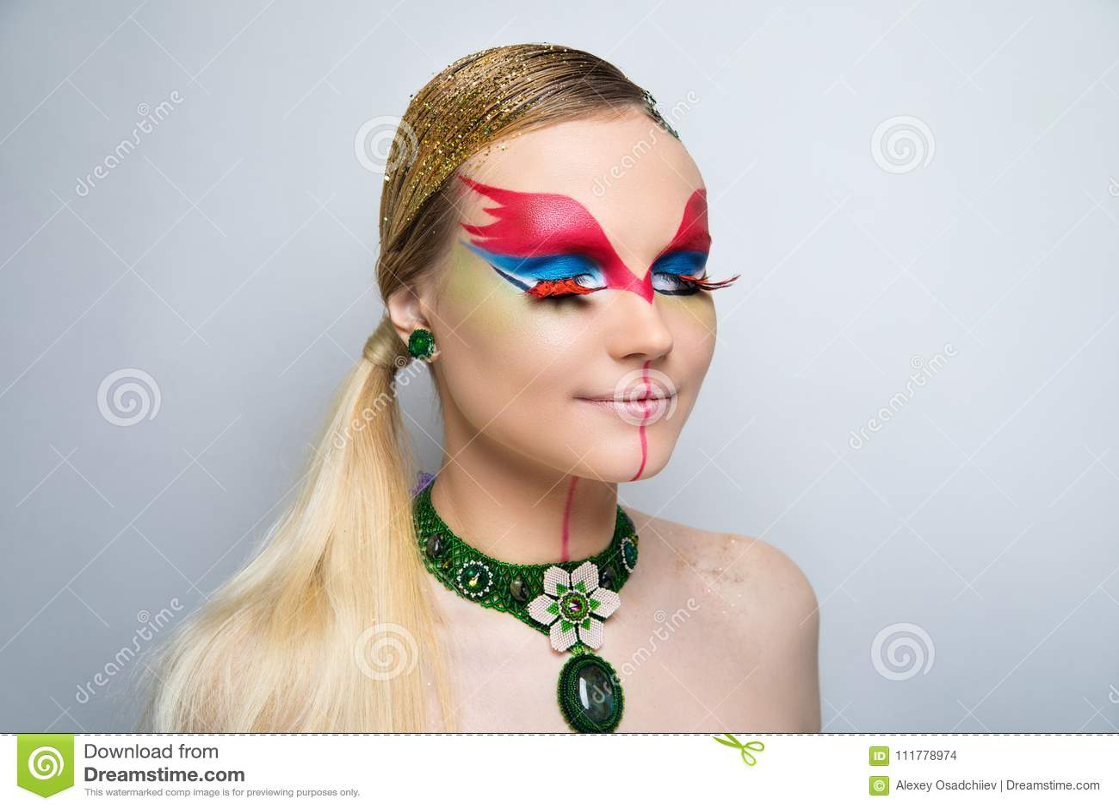 Woman fire make up
