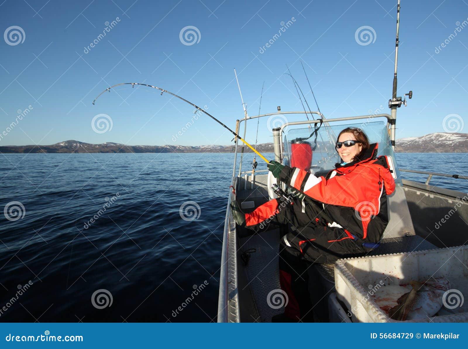 Man And Woman Fishing Catfish Stock Photography ...
