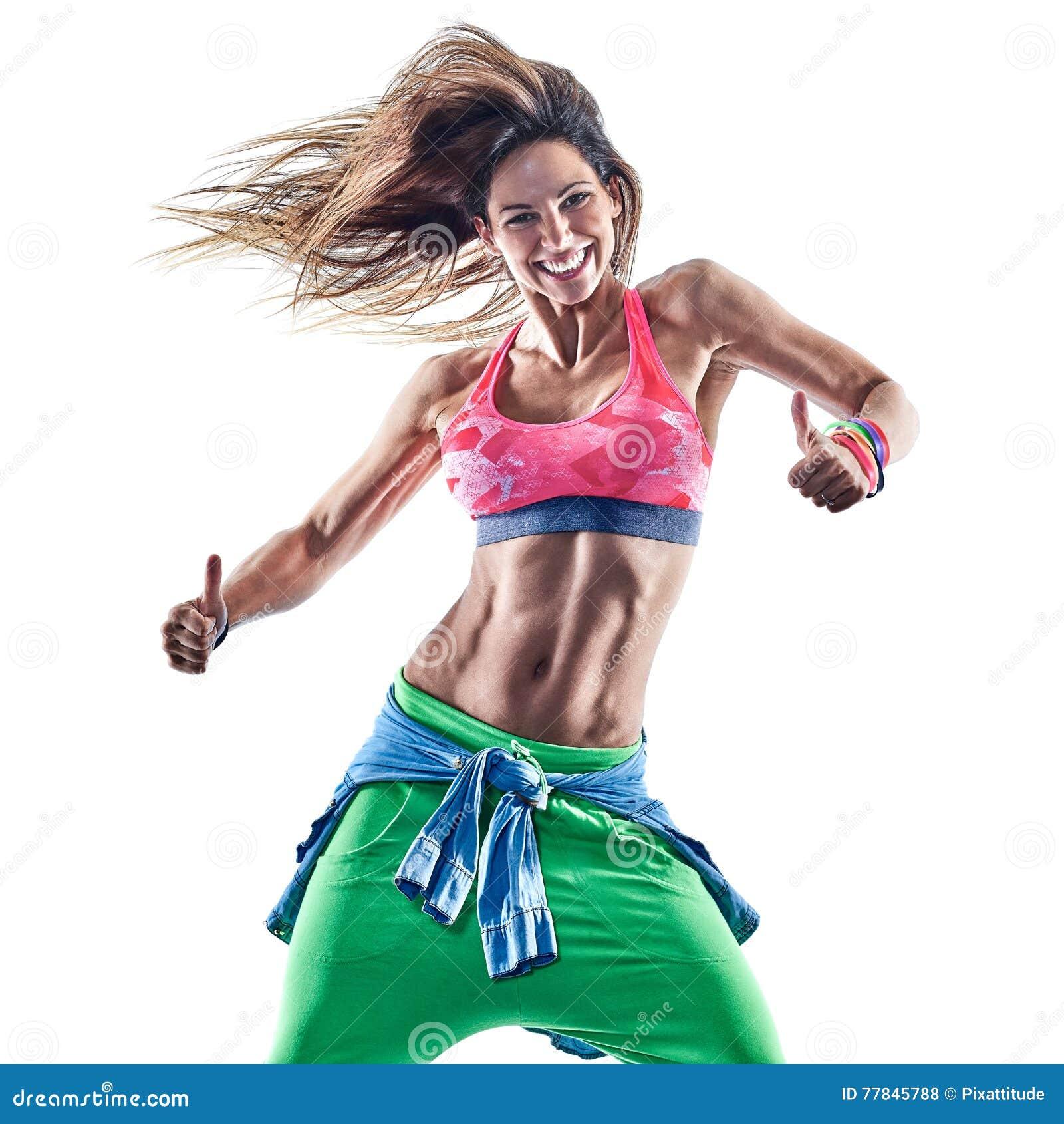woman fitness excercises zumba dancer dancing stock photo