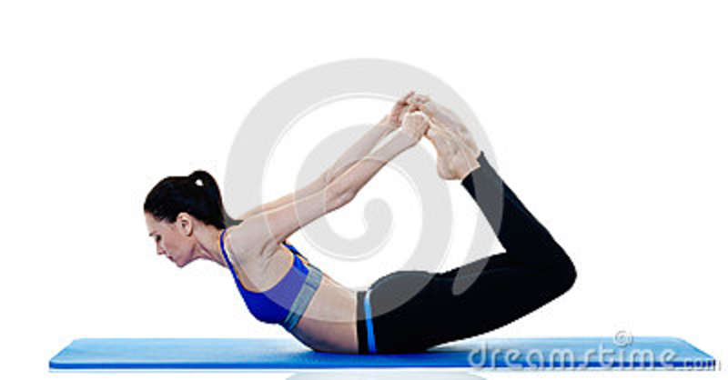 woman fitness pilates exercices isolated royalty free stock image 67948312. Black Bedroom Furniture Sets. Home Design Ideas