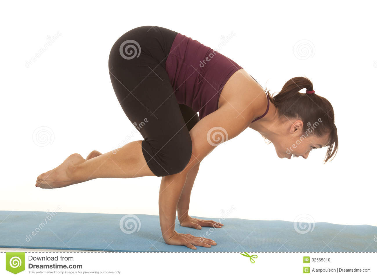 Woman Fitness Up On Hands Stock Photo Image Of Balance 32665010