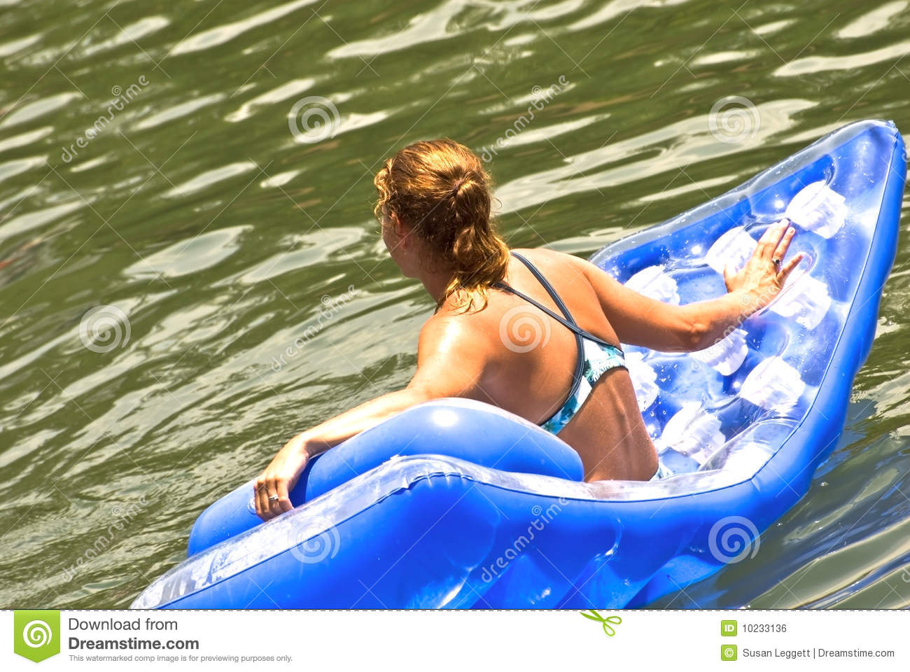 Woman On A Float