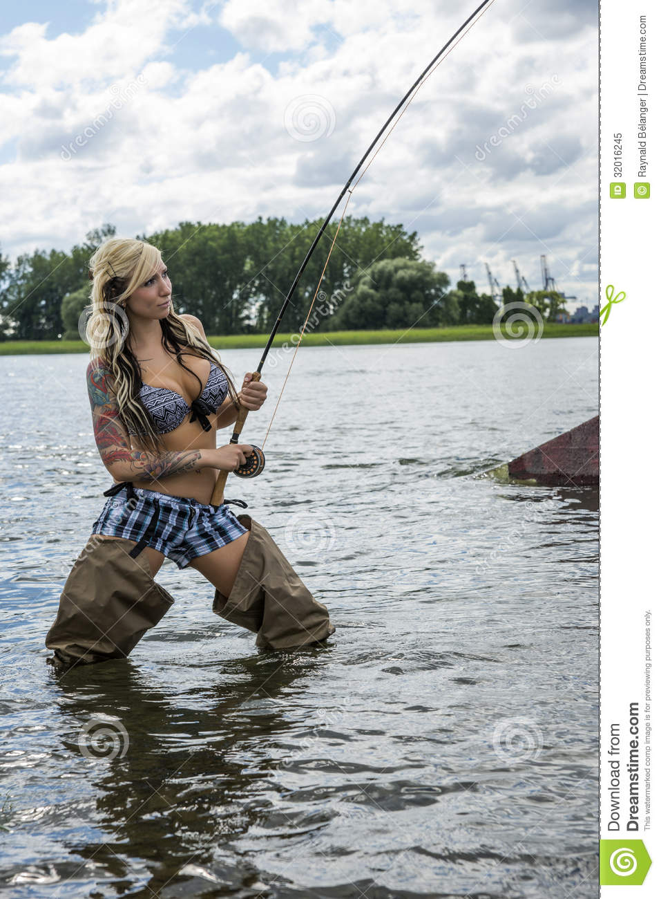 woman fly fishing royalty free stock photo - image: 32016245, Fly Fishing Bait