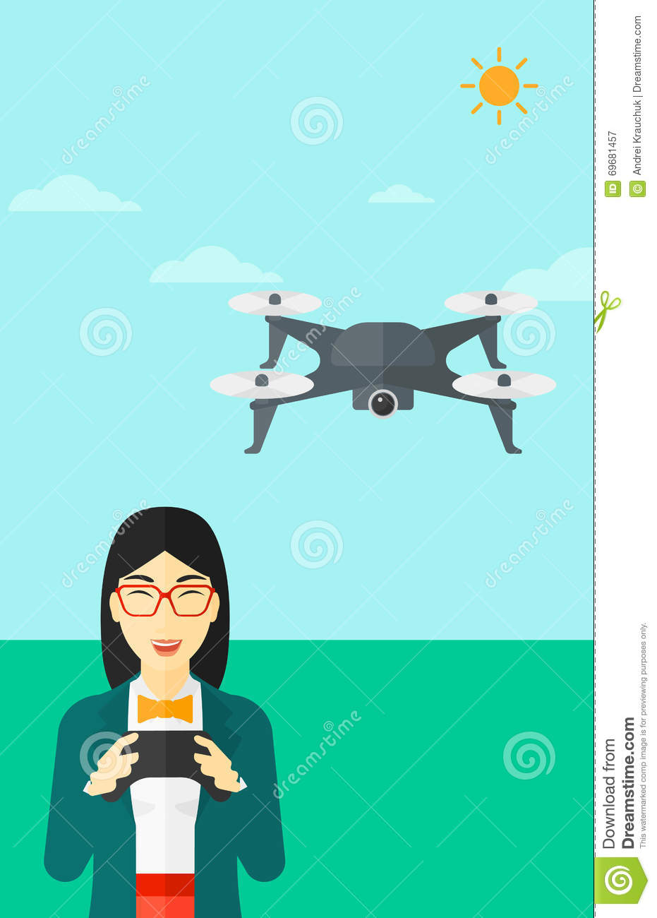 Woman Flying The Drone Royalty-Free Stock Image ...