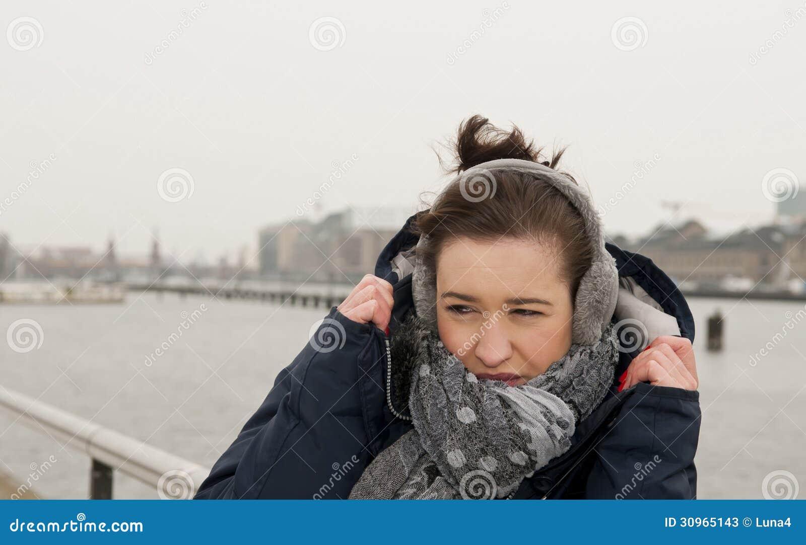 Freezing Cold Woman Woman Freezing Stock P...