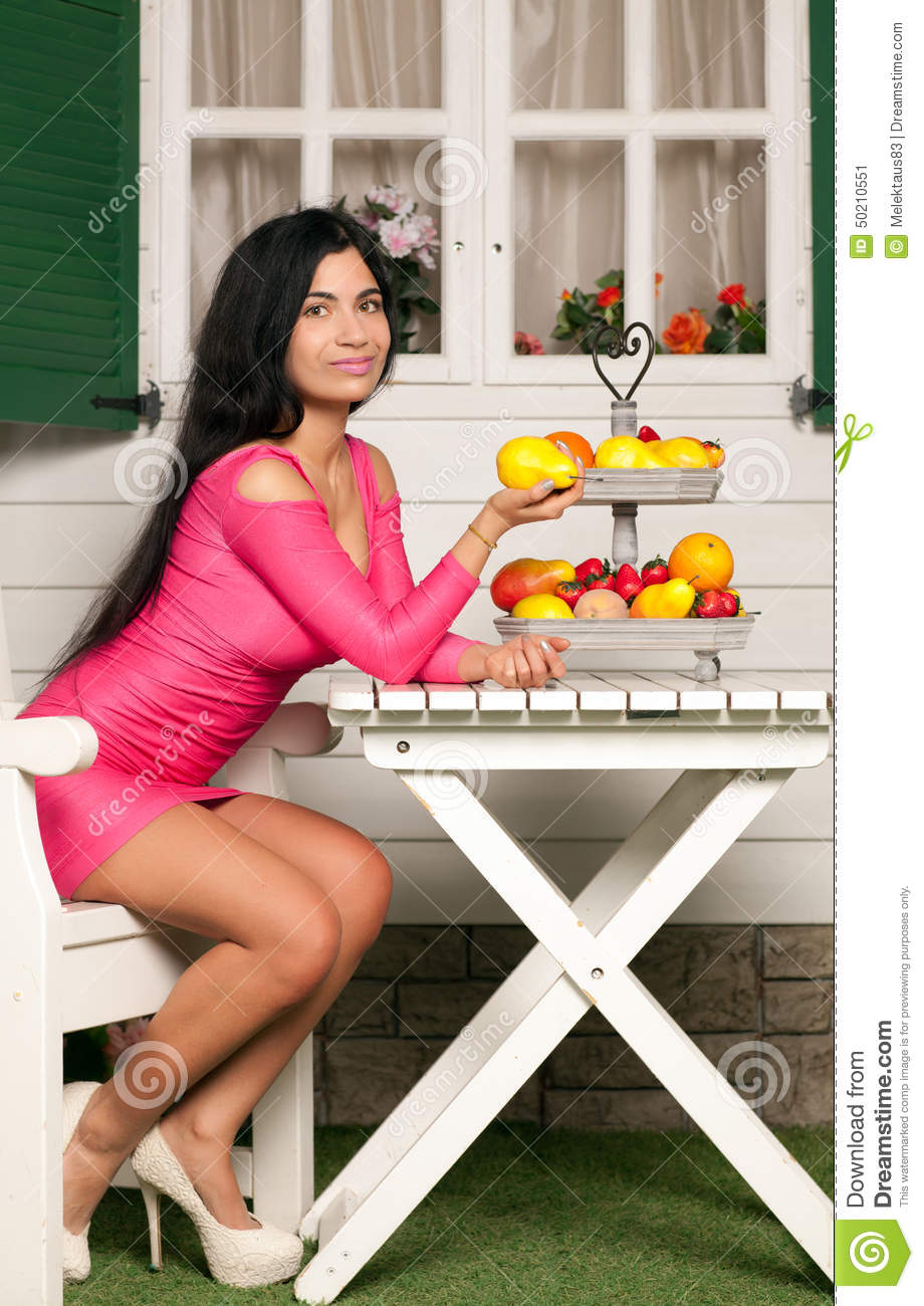 Woman And Fruit Stock Photo Image 50210551