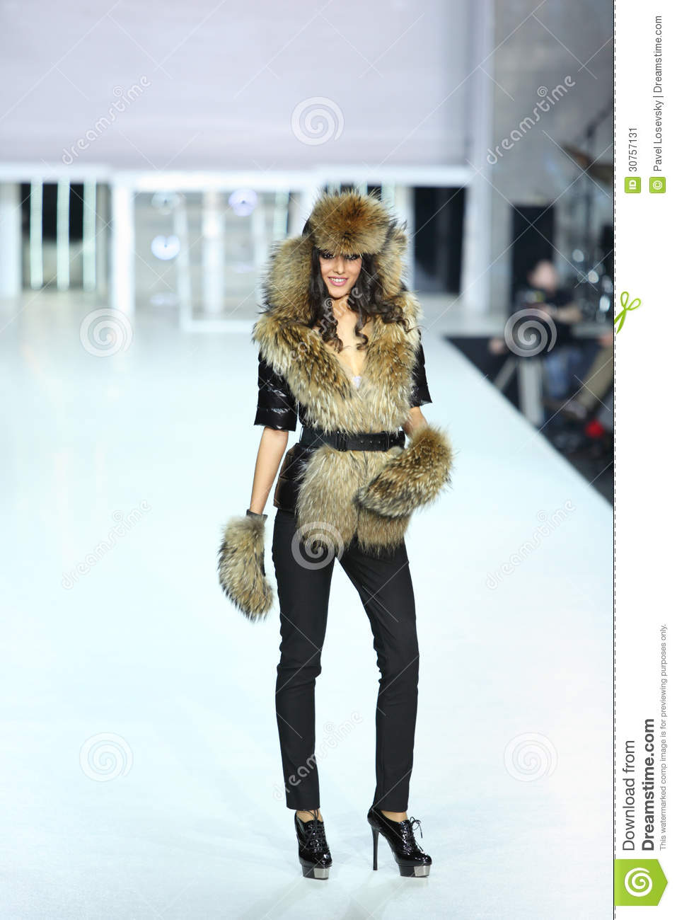 Woman in furry clothes from ODRI