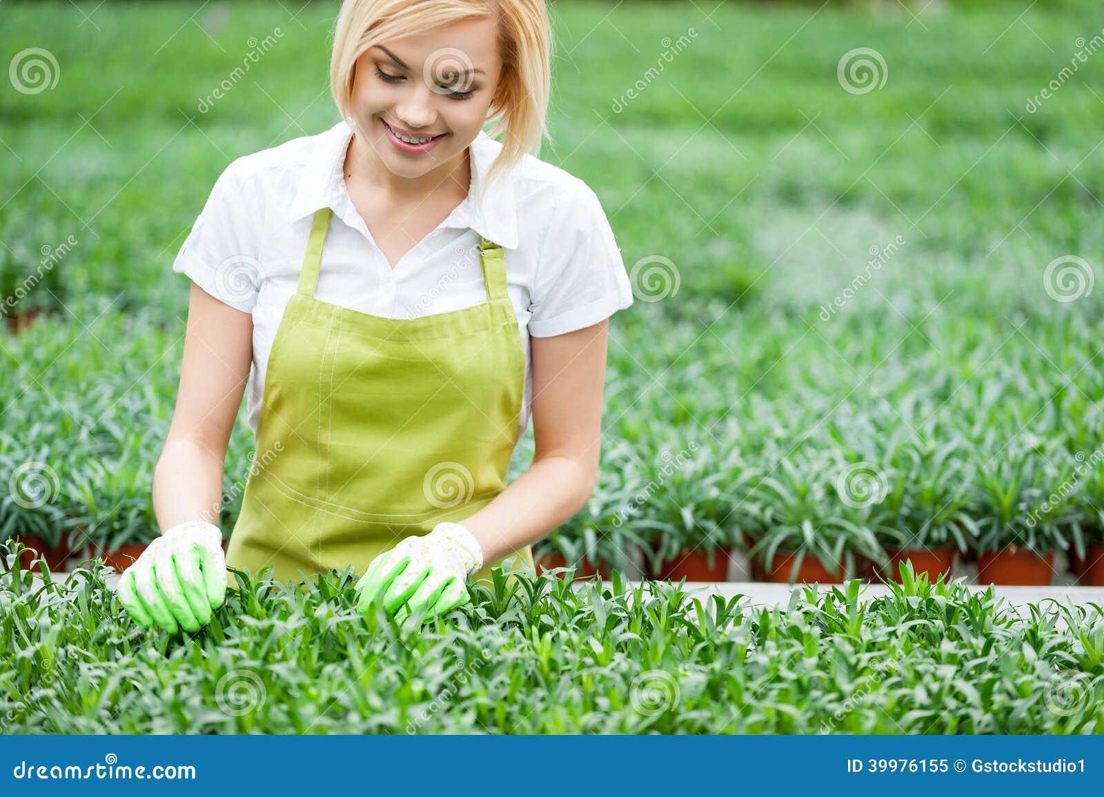 Woman Gardening Stock Photo Image 39976155