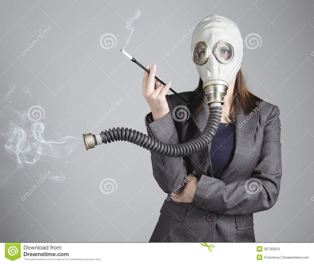 Woman gas mask porn
