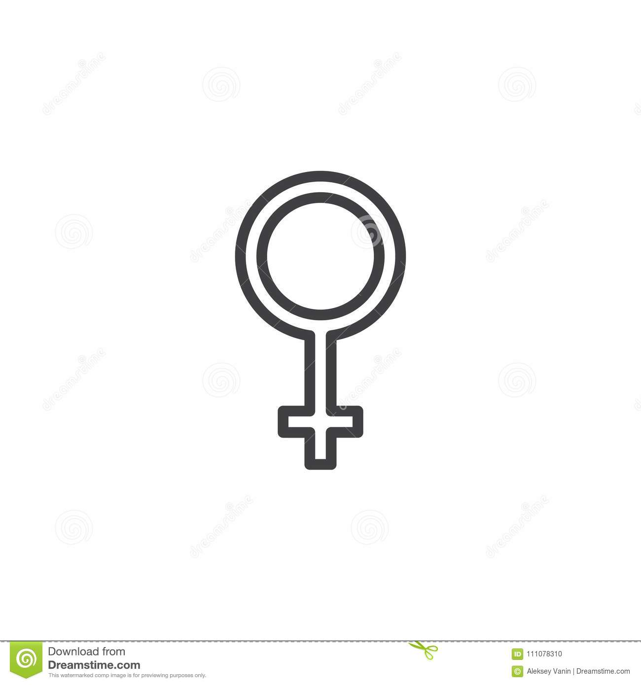 Woman gender sex outline icon