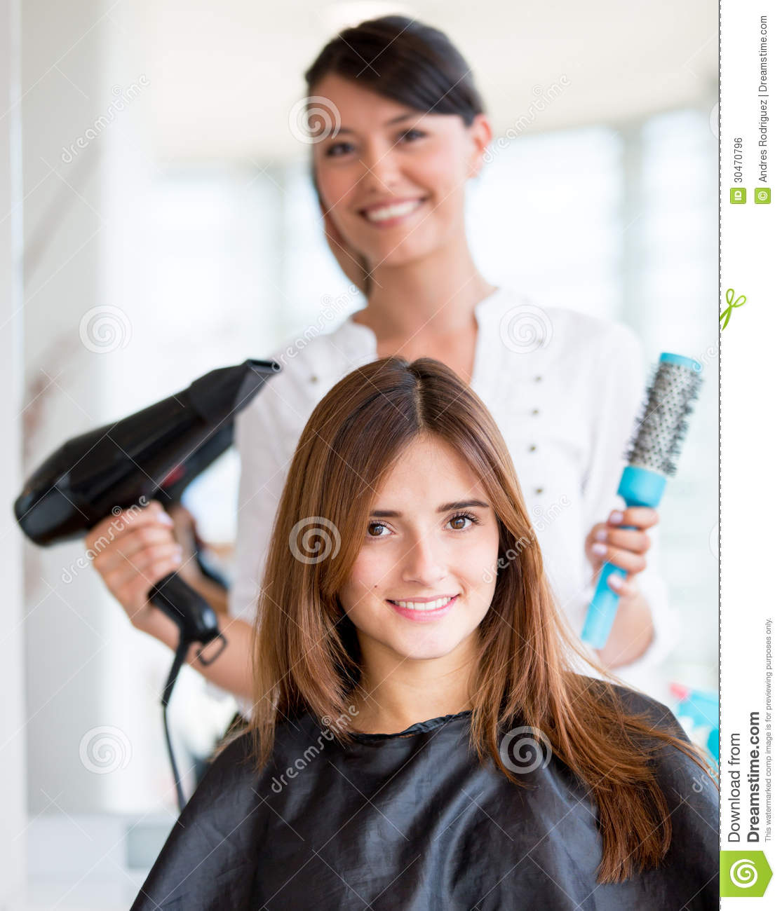Woman getting a hair cut stock photo. Image of ...