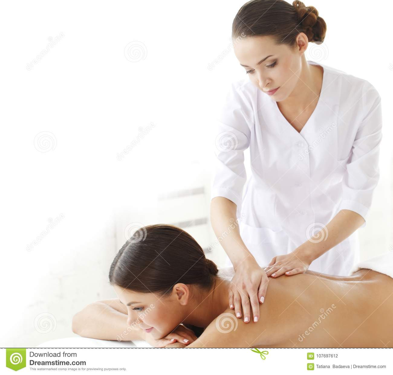 naked women getting massages