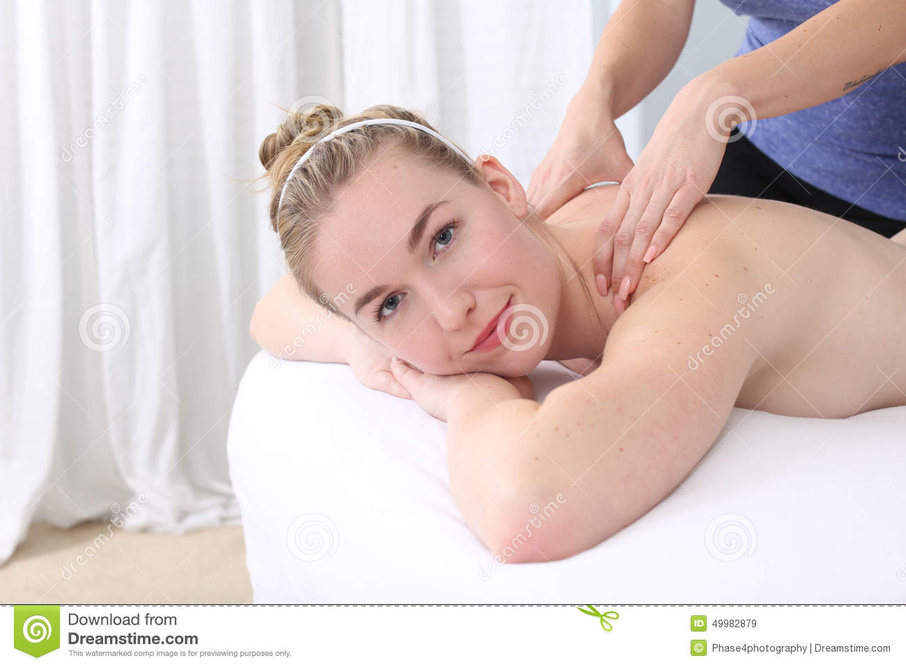 Woman getting massage stock image. Image of healthy ...