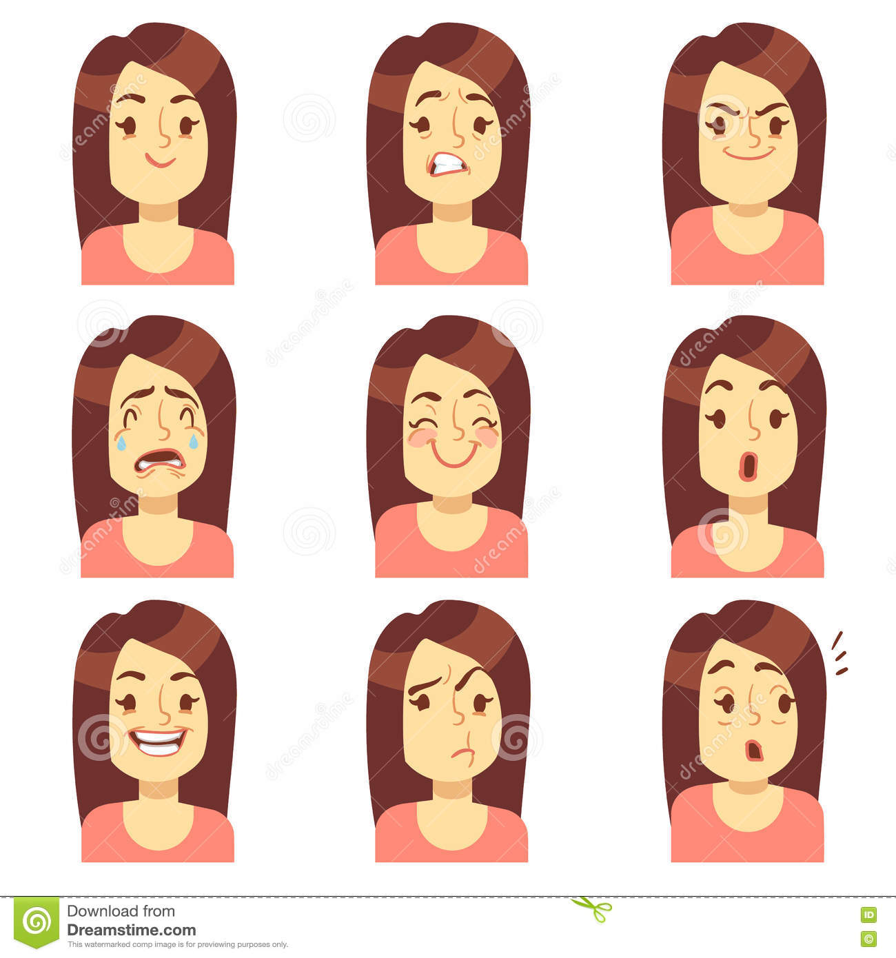 Avatar People Collection With Different Expression Vector
