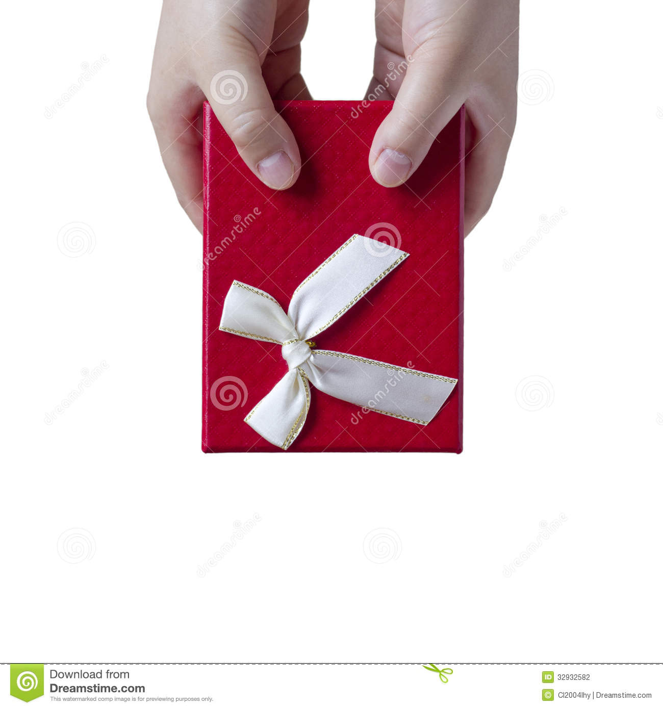 Woman Giving Gift. Stock Photography - Image: 32932582