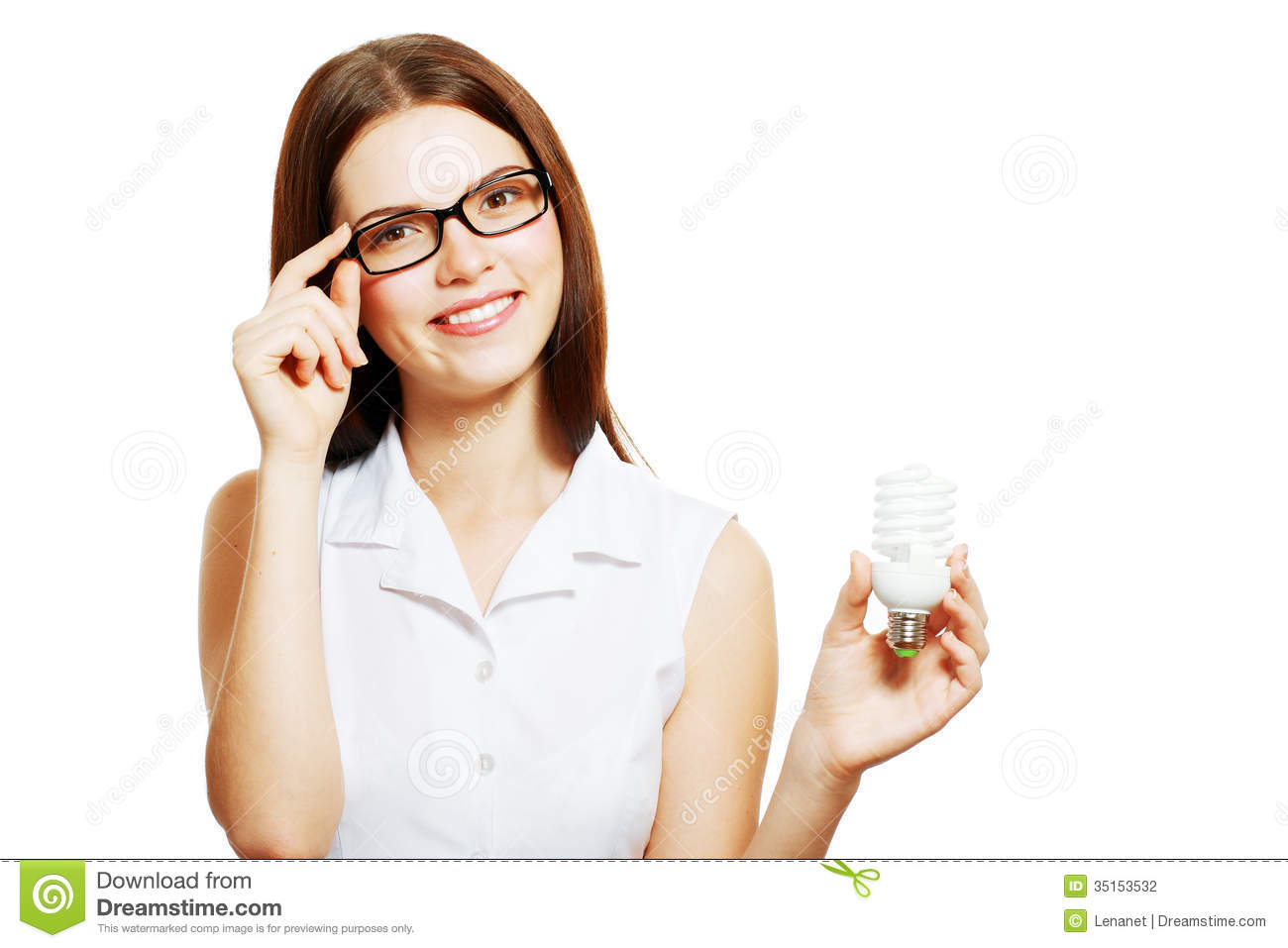 Woman In Glasses Holding Lamp Stock Photo - Image of household ... for Girl Holding Lamp  83fiz