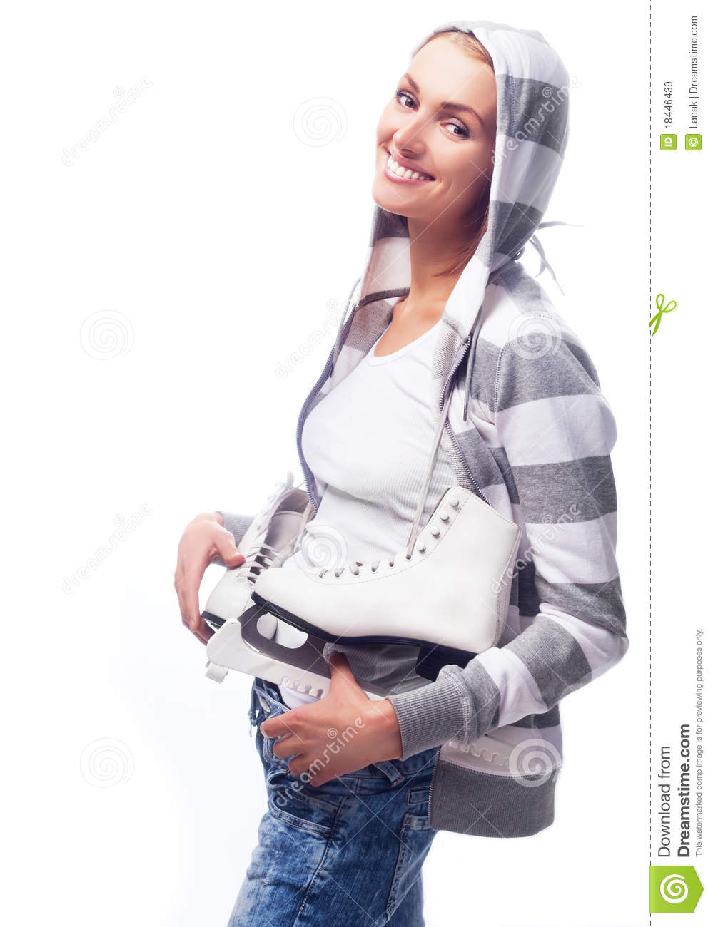 Attractive Young Woman Is Going For Sports Royalty Free