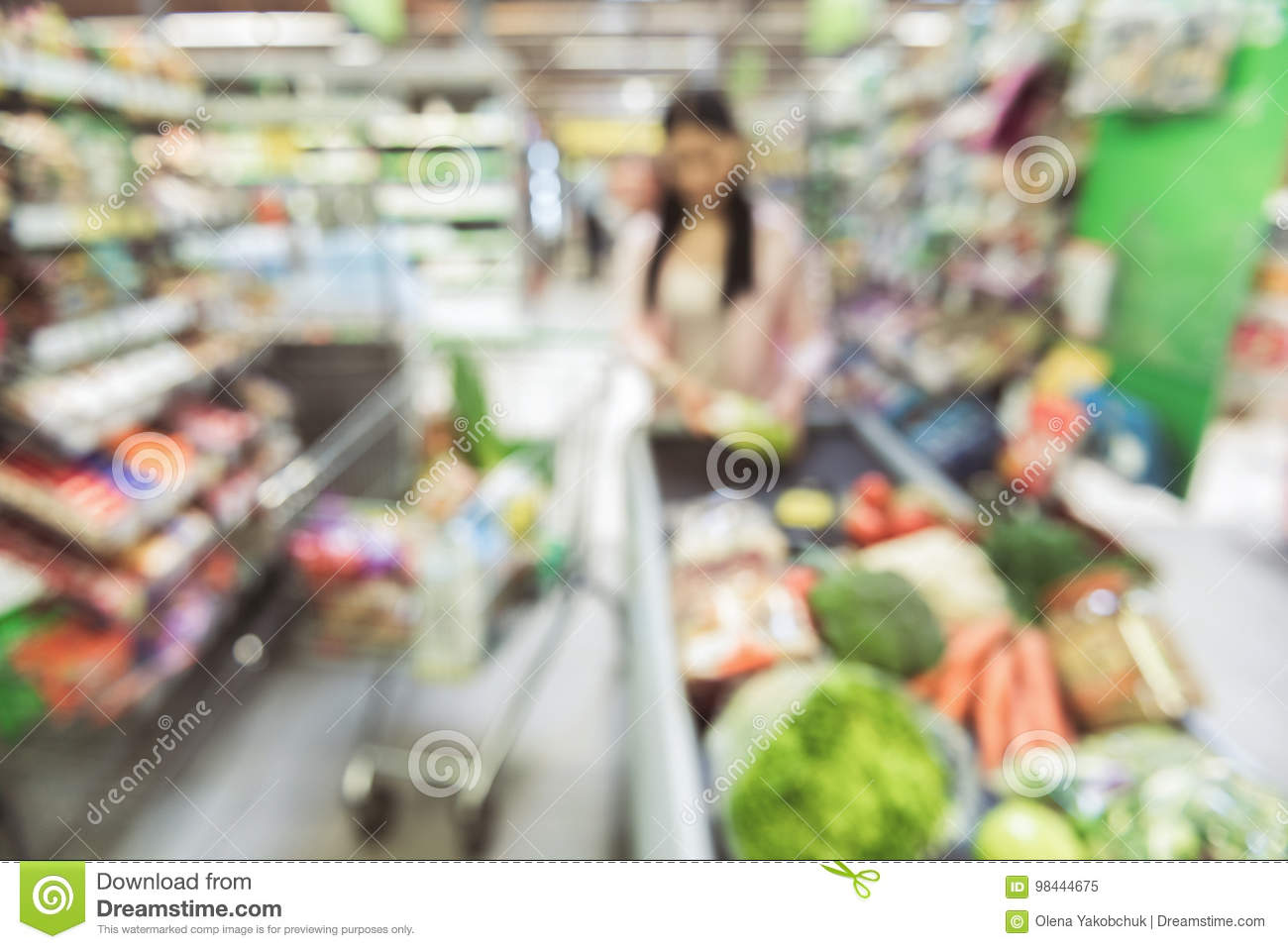Woman going to pay for chosen goods