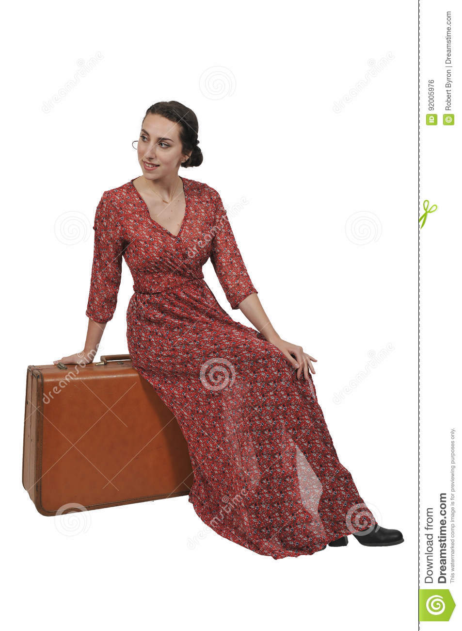 Woman on or going on vacation