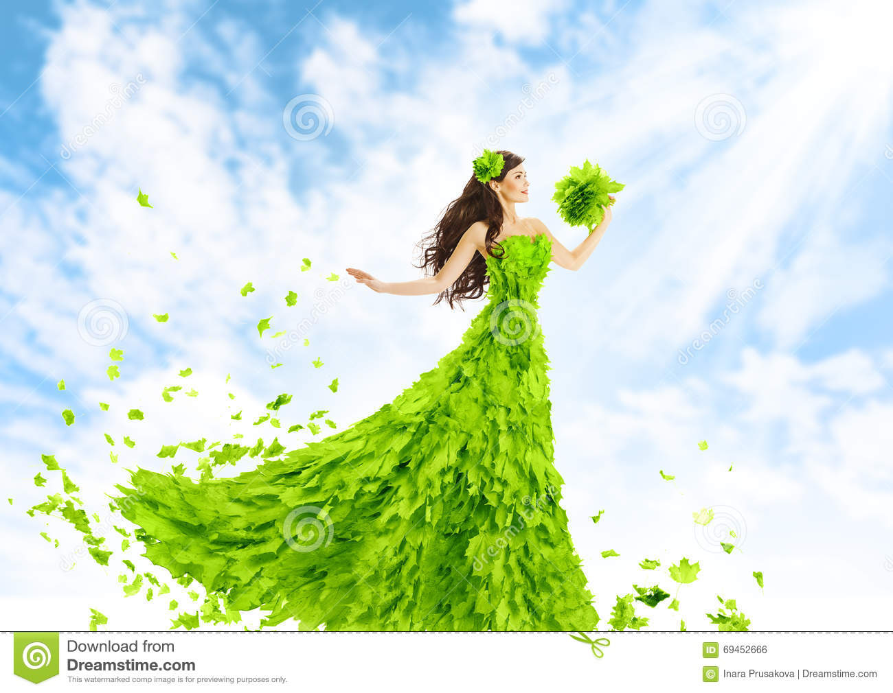 Green Fashion Royalty-Free Stock Photography
