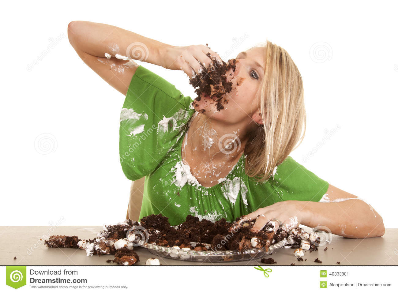Stuffing Face With Cake