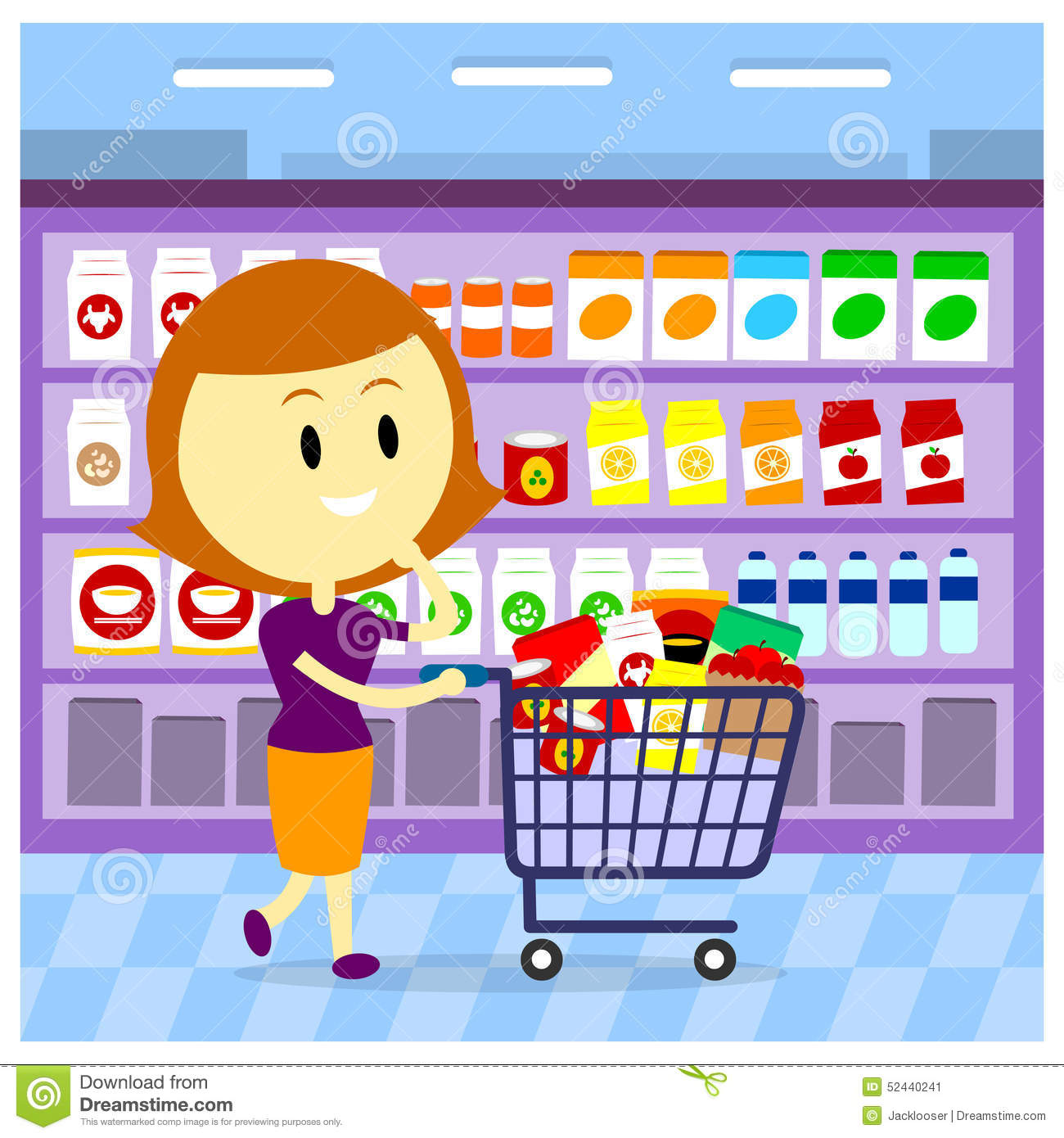 woman grocery shopping stock illustration image 52440241 grocery store clip art in black and white grocery store clip art free images