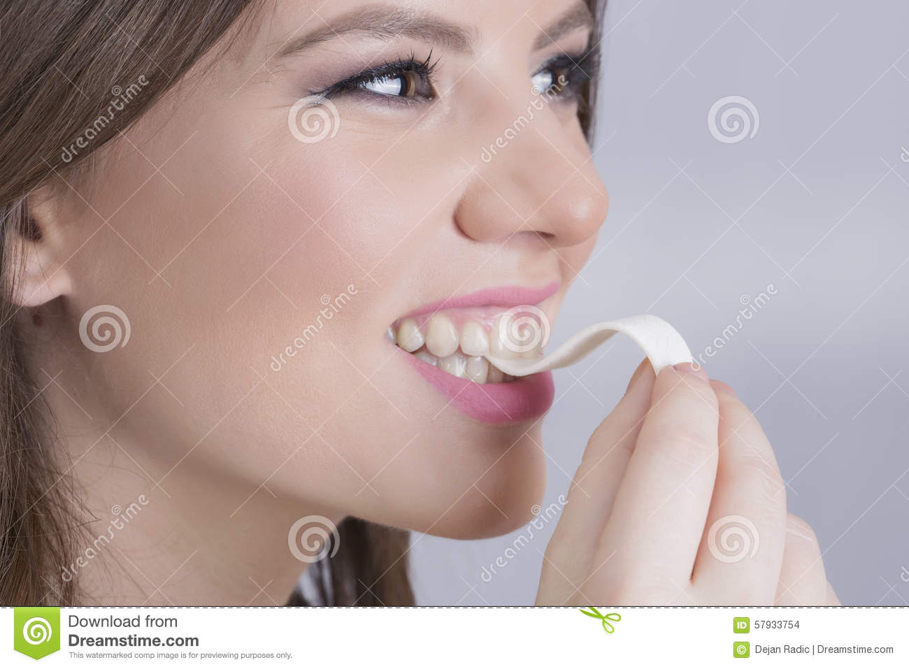 Woman and a gum