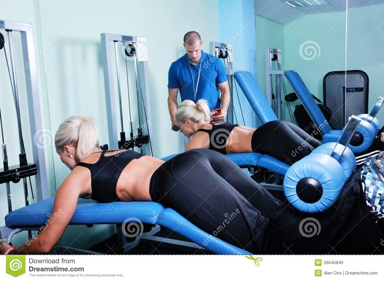 Woman In Gym With Pers...