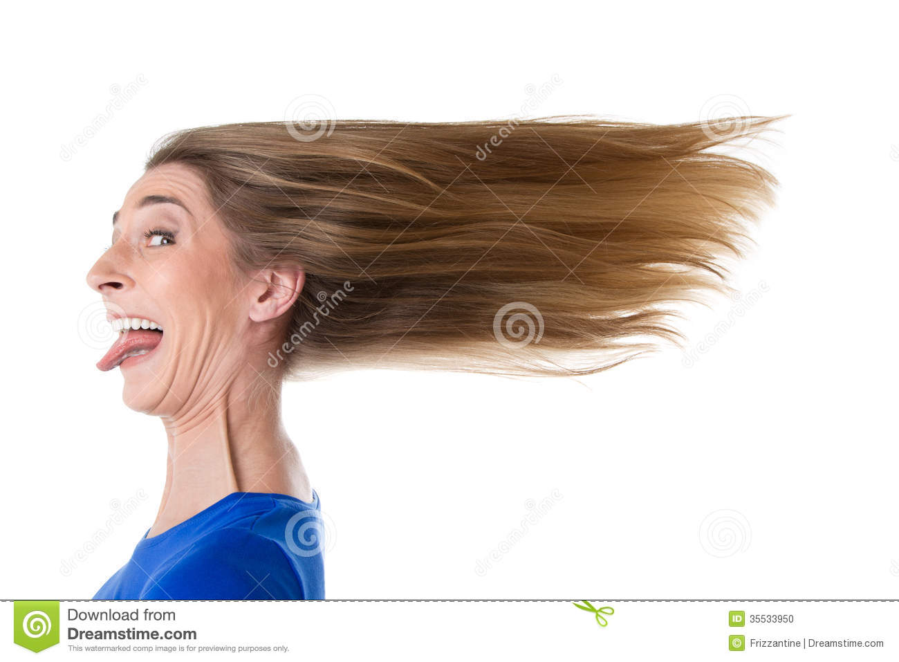 Woman Hair Ruffled By Wind Stock Photo - Image: 35533950