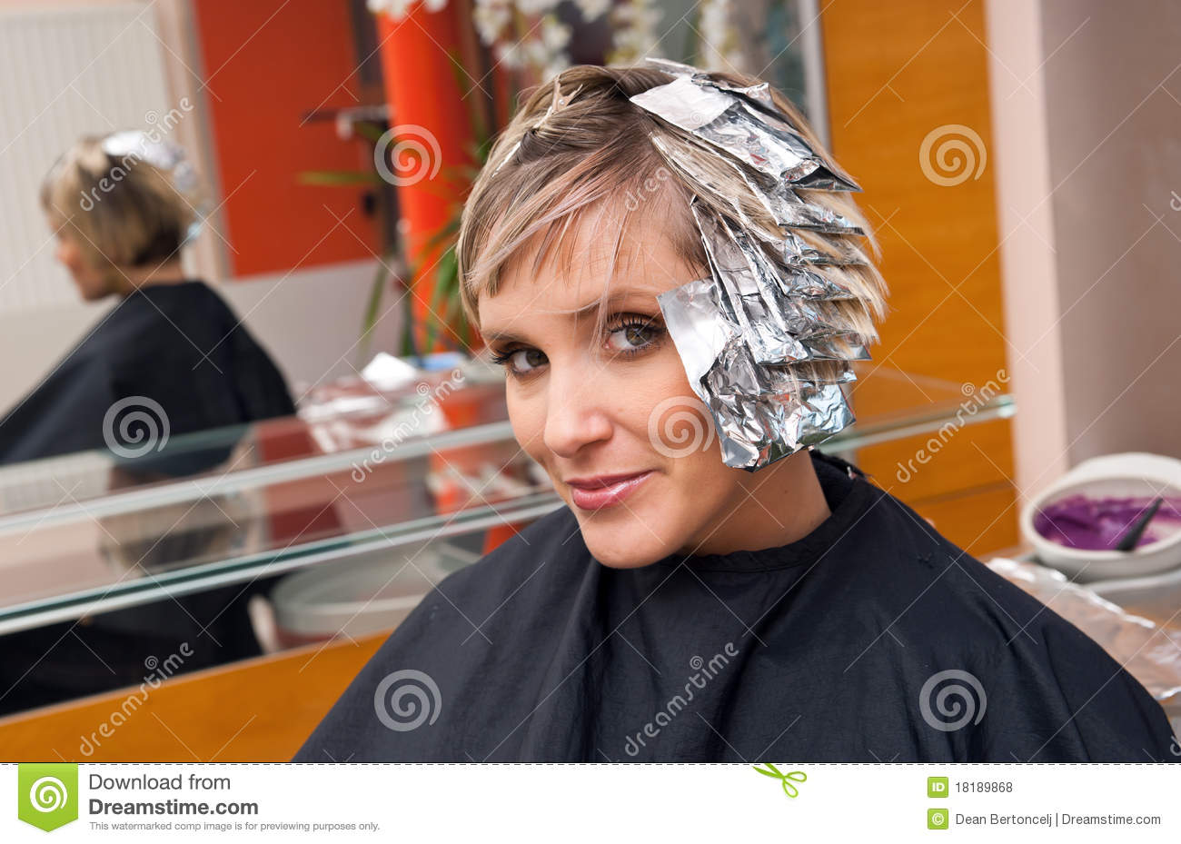 Woman In Hair Salon Stock Photo Image Of Barber Care