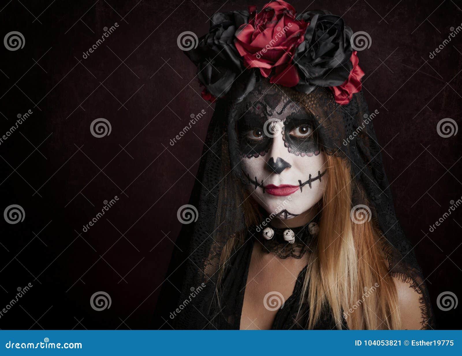 Woman on halloween