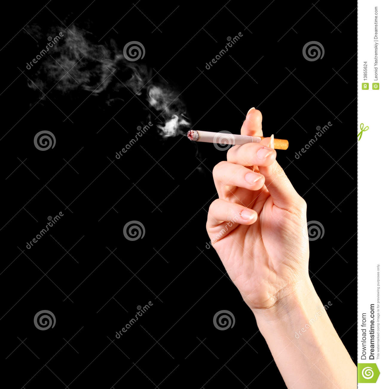 how to draw a girl holding a cigarette