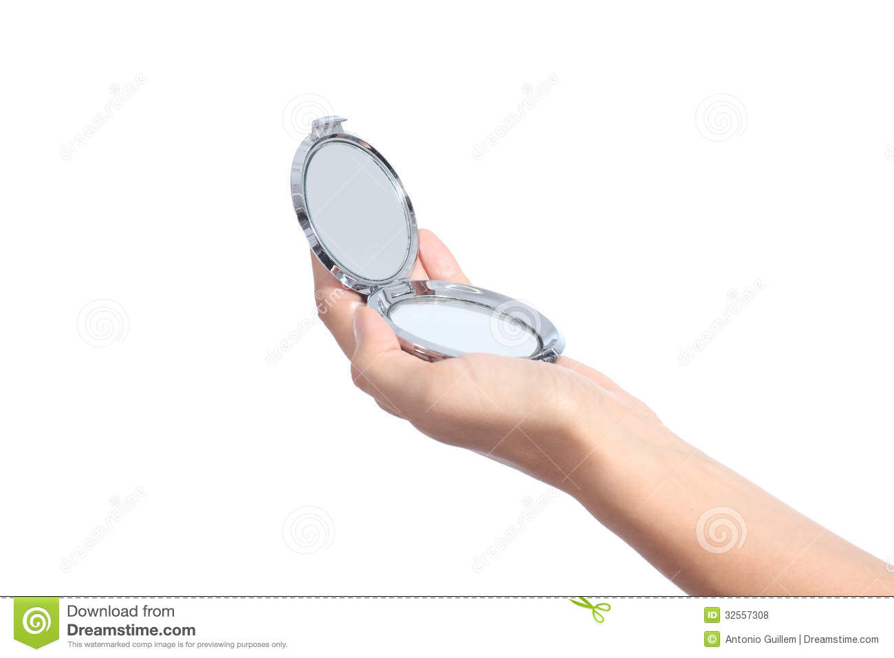 Hand Holding A Mirror Stock Image - Image: 20653701
