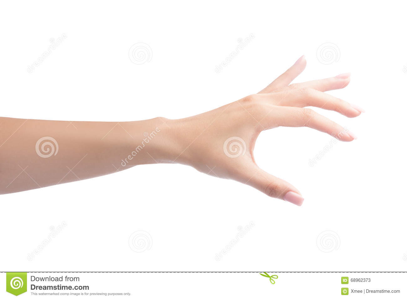 Woman hand holding object