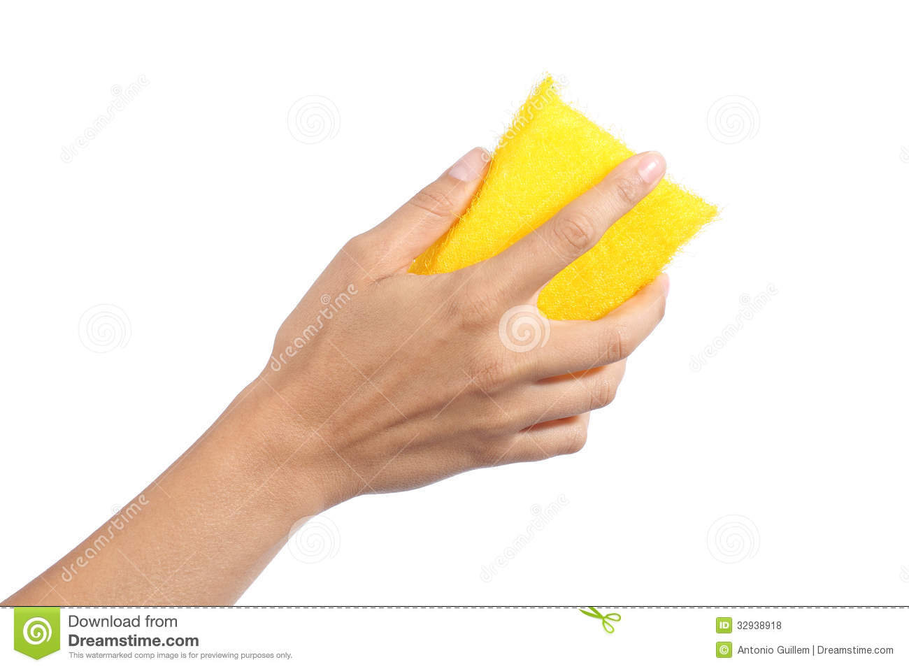 Woman Hand Holding A Scourer Royalty Free Stock Photos