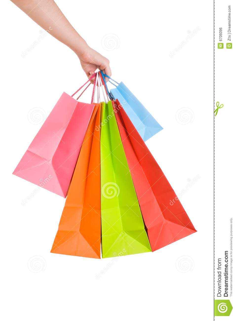 Woman Hand Holding Several Shopping Bags Stock Photo Image Of