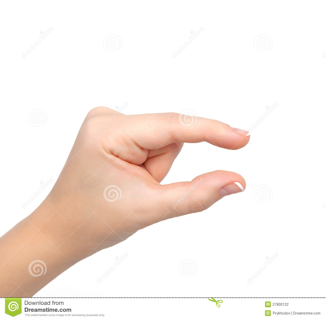 Woman Hand Shows Pinch To Zoom Stock Photography - Image: 27800122