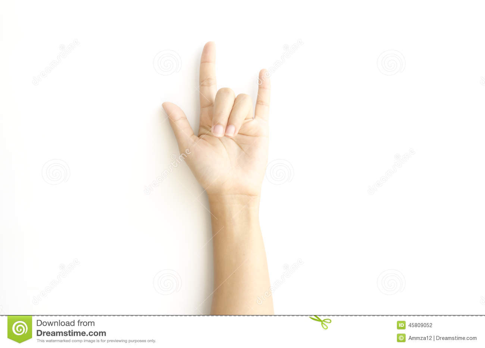 Woman Hand Sign I Love You Symbol Stock Photo Image Of Language
