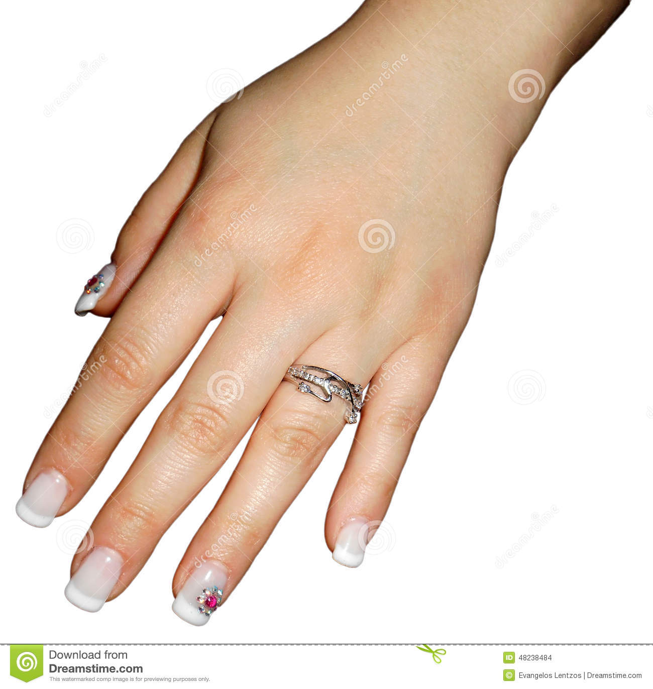 Woman hand with wedding ring isolated stock photo image What finger to wear a ring on female