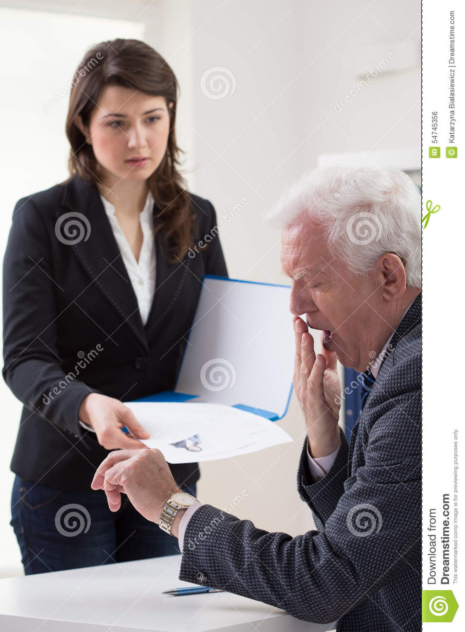 woman handing cv stock photo  image of contract  paper