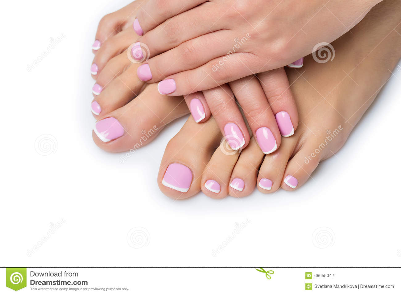 Foot Pedicure French Manicure Nails Stock Photos - 252 Images